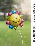 single balloon in flower shape... | Shutterstock . vector #1272438028