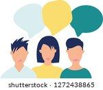 people talking  business... | Shutterstock .eps vector #1272438865