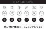 creature icons set. collection...   Shutterstock .eps vector #1272447118
