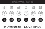 hardware icons set. collection... | Shutterstock .eps vector #1272448408
