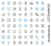 dial icons set. collection of... | Shutterstock .eps vector #1272448435