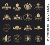 nuts seeds logo icons set.... | Shutterstock .eps vector #1272452362