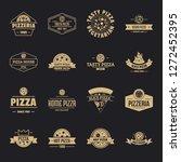 pizzeria logo icons set. simple ... | Shutterstock .eps vector #1272452395