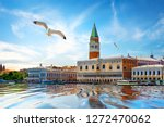 seagulls and san marco square... | Shutterstock . vector #1272470062