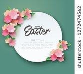 paper art of pink flower... | Shutterstock .eps vector #1272474562