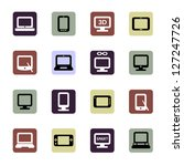 electronic devices icons set | Shutterstock .eps vector #127247726