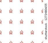 bonfire icon pattern seamless... | Shutterstock .eps vector #1272480655