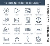 record icons. trendy 16 record... | Shutterstock .eps vector #1272480838