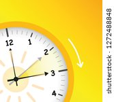 summer time yellow clock... | Shutterstock .eps vector #1272488848