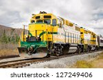 Diesel Locomotive And Cloudy Sky