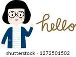 hello everybody  nice to meet...   Shutterstock .eps vector #1272501502