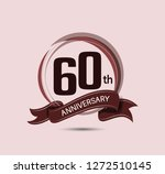 60th anniversary logo with... | Shutterstock .eps vector #1272510145