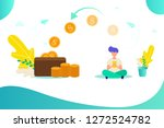man works online  concept of... | Shutterstock .eps vector #1272524782