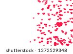 valentine day pink red hearts... | Shutterstock . vector #1272529348