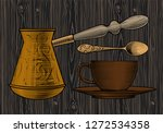 coffee collection.cup of coffee ... | Shutterstock .eps vector #1272534358