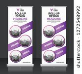 roll up banner design template  ... | Shutterstock .eps vector #1272548992