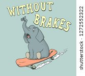 Elephant Skateboarder Rides On...