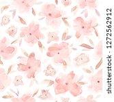 elegant watercolor abstract... | Shutterstock . vector #1272562912
