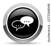 forum vector steel icon. chrome ...   Shutterstock .eps vector #1272568048