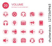volume icon set. collection of... | Shutterstock .eps vector #1272569965