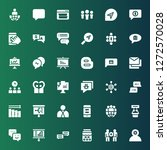 discussion icon set. collection ... | Shutterstock .eps vector #1272570028