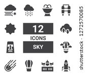 sky icon set. collection of 12... | Shutterstock .eps vector #1272570085