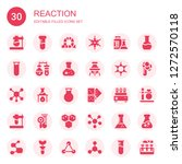 reaction icon set. collection... | Shutterstock .eps vector #1272570118