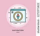 navigation  web design  flat...