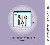 website management  flat design ...   Shutterstock .eps vector #1272571828