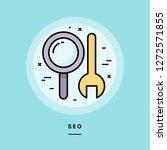 seo  flat design thin line...   Shutterstock .eps vector #1272571855