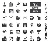 beer icon set. collection of 32 ... | Shutterstock .eps vector #1272574075
