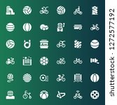 recreational icon set.... | Shutterstock .eps vector #1272577192