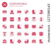 comfortable icon set.... | Shutterstock .eps vector #1272580165