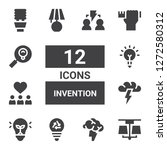 invention icon set. collection... | Shutterstock .eps vector #1272580312