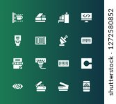 scan icon set. collection of 16 ... | Shutterstock .eps vector #1272580852