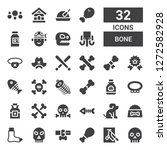 bone icon set. collection of 32 ... | Shutterstock .eps vector #1272582928