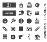 manual icon set. collection of... | Shutterstock .eps vector #1272583078