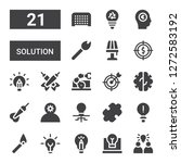solution icon set. collection... | Shutterstock .eps vector #1272583192