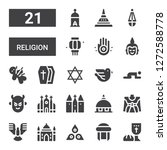 religion icon set. collection... | Shutterstock .eps vector #1272588778