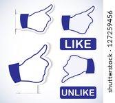 like symbol. paper stickers | Shutterstock .eps vector #127259456