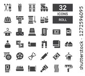 roll icon set. collection of 32 ... | Shutterstock .eps vector #1272596095