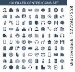 100 center icons. trendy center ... | Shutterstock .eps vector #1272607558