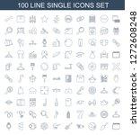 100 single icons. trendy single ... | Shutterstock .eps vector #1272608248