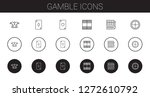 gamble icons set. collection of ... | Shutterstock .eps vector #1272610792