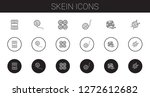 skein icons set. collection of... | Shutterstock .eps vector #1272612682