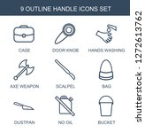 handle icons. trendy 9 handle... | Shutterstock .eps vector #1272613762