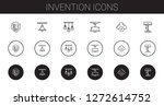 invention icons set. collection ... | Shutterstock .eps vector #1272614752