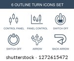 6 turn icons. trendy turn icons ... | Shutterstock .eps vector #1272615472