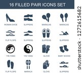 16 pair icons. trendy pair... | Shutterstock .eps vector #1272615682