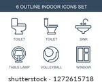 6 indoor icons. trendy indoor... | Shutterstock .eps vector #1272615718